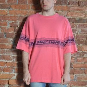 Retro Pink 90s Design BlueZone Shirt - Jamaican
